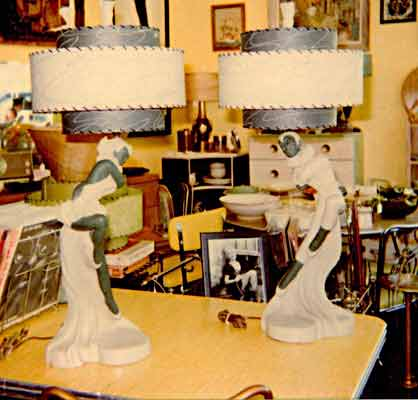 vintage lamps with lampshades retrofit