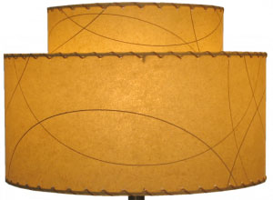 image of 2-tier fiberglass lampshade, made by Meteor Lights