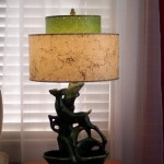 1950s lamp with new fiberglass lampshade