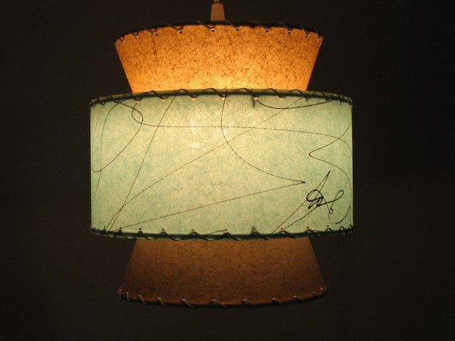 fifties style lampshade - atomic 3-tier