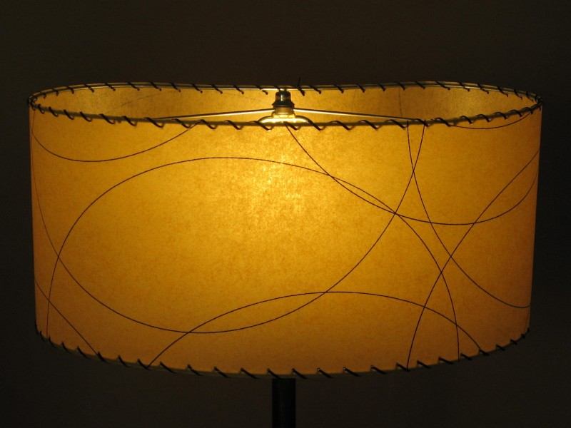 image of kidney-shaped lampshade
