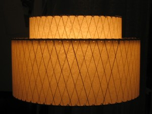 image of 1950s retro lamp shade