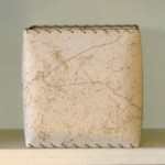 picture of cream fiberglass square lampshade