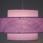 image of hanging lamp, in purple fiberglass