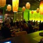 contemporary and atmospheric restaurant lighting