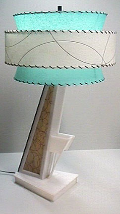 vintage Moss Lamp with reproduction shade