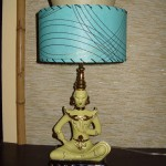 Vintage Oriental Lamp and Custom Lampshade