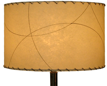 "image of large 15"" diameter drum shade in the contemporary/vintage style"