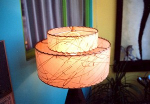 cream 2-tier lampshade