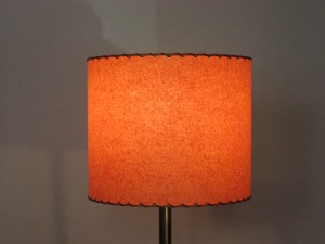 mid-century modern drum lamp shade