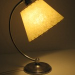 Art Deco lamp and uno cone lampshade