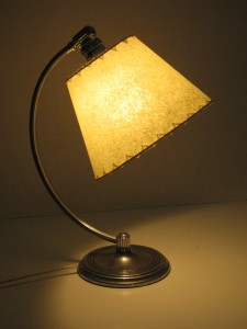 photo of Art Deco lamp and cone lamp shade