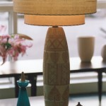 mid-century modern lamp and shade