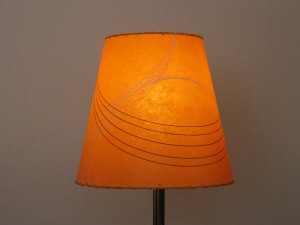 orange cone lamp shade