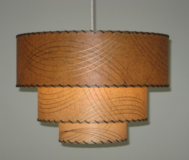 pendant lamp, in retro mod style