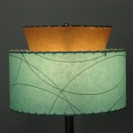 aqua and coffee lampshade