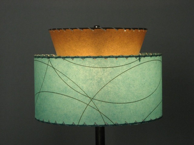 image of reproduction fiberglass lampshade