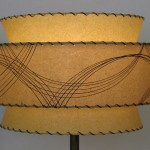retro atomic 3-tier lamp shade