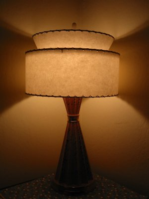 image of a retro lamp with lampshade