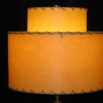 picture of vintage lamp shade reproduction made from fiberglass parchment