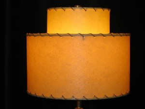 small 2-tier lampshade - butterscotch