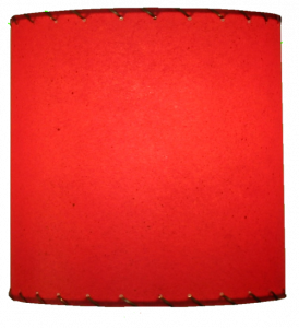 image of 8 inch red drum lamp shade manufactured by Meteor Lights