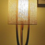 Danish  Modern lamp with replacement shade