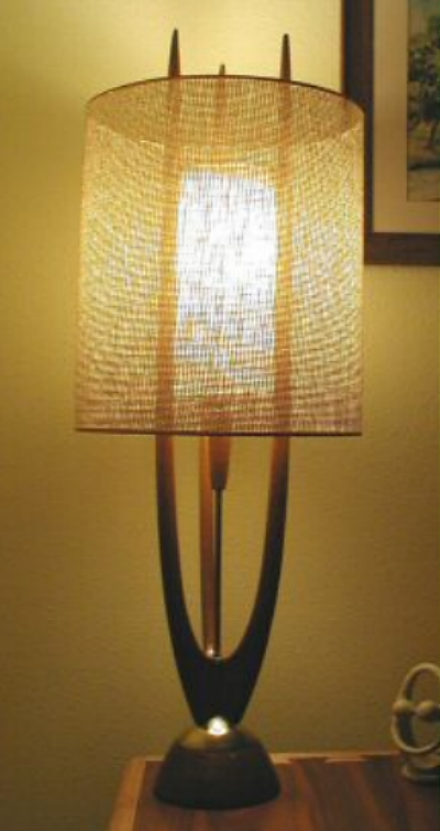 picture of Danish Modern teak lamp