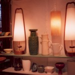 picture of pair of Danish Modern Lamps
