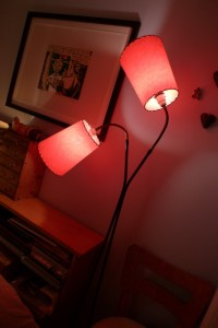 picture of red cone lamp shades