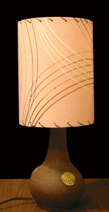 small fiber glass lampshade