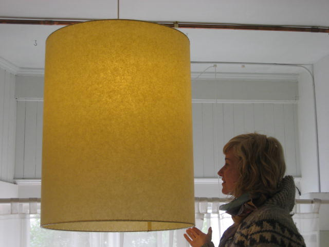 Large Barrel Shade Pendant Light Fixture