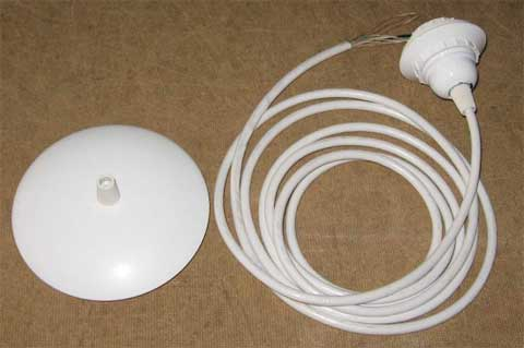picture of pendant light fixture cordset