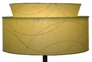 image of Eames era Atomic 2-tier lamp shade, custom-made by Meteor Lights