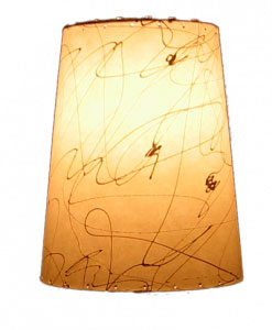 image of retro cone lampshade, hand-made by Meteor Lights
