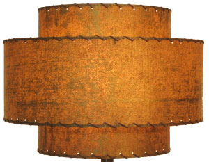 image of large 3-tier retro lampshade, hand-made by Meteor Lights