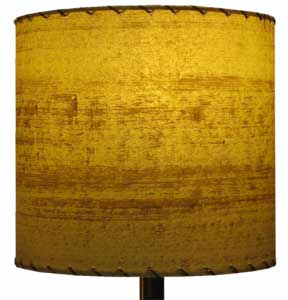 image of vintage drum lampshade, 10 inch diameter, by Meteor Lights