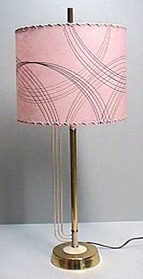 Pink Drum Lampshade On An Art Deco Lamp Base